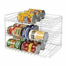 Can Storage Rack Food Organizer Shelf Kitchen Cabinet Pantry Goods Cans Holder