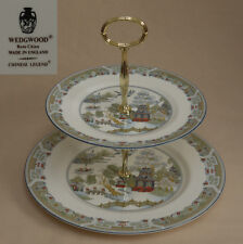 "Wedgwood ""légende chinoise"" (Bordure bleue) Deux Tier Cake Stand"