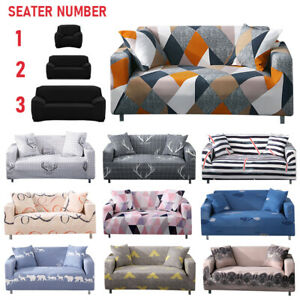 1/2/3 Seater Sofa Covers Couch Slipcover Stretch Elastic Protector Cover Fabric