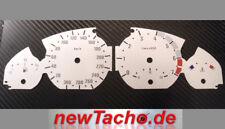 Bmw e46 3er gasolina de tacómetro carbon m3 óptica gauge velocímetro dial plates speedo