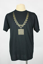 Run DMC t-shirt L new 2007 gold chain hip hop cotton black
