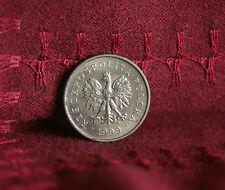 Poland 2 Grosze 1999 Brass World Coin Y277 Polska Eagle with Wings Polish Europe