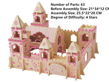 New Assembly DIY Education Toy 3D Wooden Model Puzzles Cartoon Princess Castle