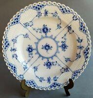 Royal Copenhagen Dinner Plate 1084 Blue Fluted Full Lace 1st quality