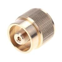 Pure Copper LPG Adapter Camping Propane Tank Input Lindal Valve Output Connector