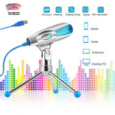 Professional Condenser Microphone USB Foldable Tripod Audio Sound Recording Mic