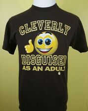 CLEVERLY DISGUISED AS AN ADULT T SHIRT MEDIUM EMOJI