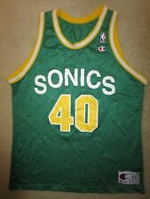 Shawn Kemp #40 Seattle Supersonics Sonics NBA Champion Jersey 44 Rookie