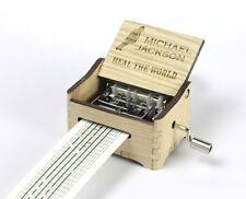 Michael Jackson - Heal The World / Hand Crank Paper Strip Wooden Music Box
