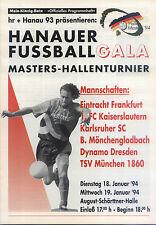 18./19.01.1994 DFB-Masters Hanau mit Dynamo Dresden, 1860 München, KSC, ...