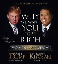 New 5 CD Why We Want You to Be Rich Donald Trump & Robert Kiyosaki