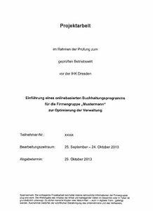 Geprufter Betriebswirt Projektarbeit Prasentation 0