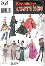 Simplicity 5934 Halloween Clown, Witch, Red Riding Hood, Fairy, Sourcer PATTERN