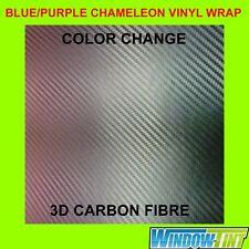 150cm x 50cm Purple-Blue Colour Change Chameleon Carbon Fibre Car Wrap Vinyl