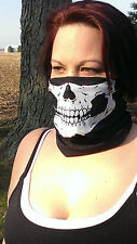 NEW Skeleton Motorcycle Face Mask Bandana SKULL MASK WITH FANGS HEAD WRAP