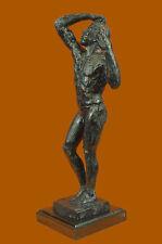 L'âge d'airain sculpture d'Auguste Rodin véritable bronze et marbre FigureDB