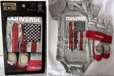 Converse All Star Baby Boy's American Flag Bodysuit Bootie Cap 3-Piece Boxed Set