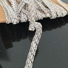 Métrage Ancien Paille Synthétique Argent 6 m Modiste Chapeau Hat Ribbon Antique