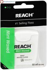 Johnson & Johnson Reach Mint Waxed Dental Floss 55 Yards (Pack of 6)