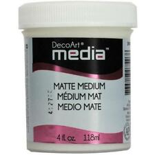 DecoArt Media Matte Medium 4oz (118ml) Clear DMM20