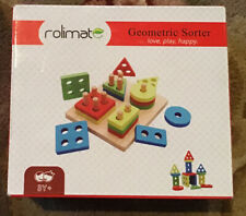 Rolimate Geometric Sorter for Kids 3+ / Wooden / New (Other) / Ships FREE!