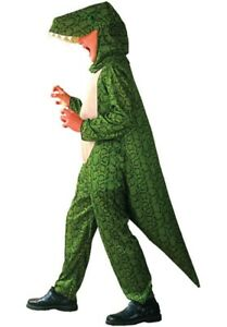 Unisex Kids Dinosaur Costume Godzilla T Rex Lizard  Fancy Dress Boys Girls 7-9-M