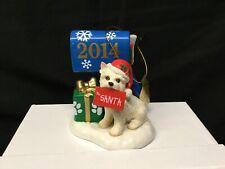 2014 Danbury mint Annual Westie Terrier Dear Santa Holiday Ornament *Tail Broken