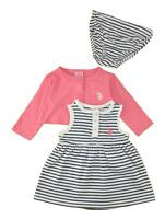 US Polo Assn Toddler Girls/' Mint Frost Cardigan 2pc Dress Set  Size 2T 3T 4T