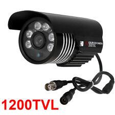 Cctv 1200Tvl Color Outdoor 6pcs Array Leds Ir Waterproof Bullet Camera Ir-Cut