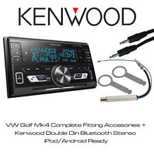 KENWOOD CAR STEREO CD MP3 USB AUX In iPhone Android BLuetooth For VW Golf Mk4