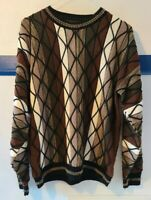 Protege Collection Mens Sweater Round Neck Acrylic Size L Cosby Coogi Biggie USA