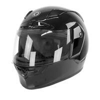 TORC T19 Phantom Full Face Motorcycle Street Sport Road Helmet Glossy Black DOT