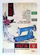 Lámina Publicidad máquina de coser Alfa Bicolor. Original 1959