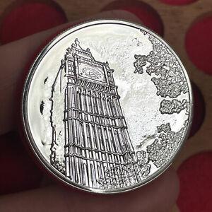 Elizabeth II, Silver £100 Coin, 2015. Big Ben.