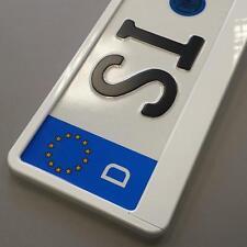 2 Stück weiss Hochglanz metallic Optik Kennzeichenhalter Nummernschildhalter