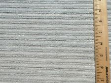 Mid Century VINTAGE Home Decor Fabric Seafoam Boucle Chenille Stripe Upholstery