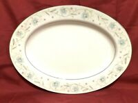 "English Garden Fine China of Japan 1221 Oval Serving Platter 12 1/2"" x 9"""