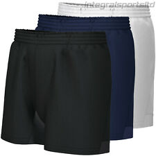 i-sports Rugby Shorts Boys Kids Reinforced Pro Training Plain Short For School