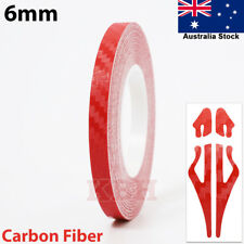 "6mm x 9.8m Self Adhesive Pin Stripe Tape Vinyl Sticker 1/4"" Carbon Fiber Red"