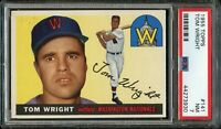 1955 Topps BB Card #141 Tom Wright Washington Nationals PSA NM 7 !!!!