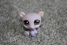 Purple Bear #677 Brown Tear Drop Eyes LPS Toy RARE VHTF Cute Littlest Pet Shop