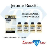 Jerome Russell Bblonde High Lift Powder Bleach & 4 x Cream Peroxide 40VOL 12%