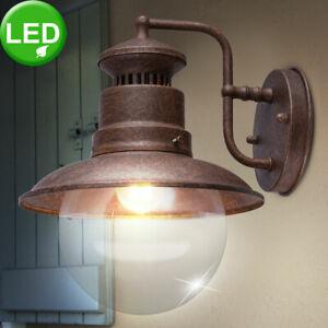 LED Wand Leuchte rost Fassaden Außen Beleuchtung Vintage Stil Garten Hof Lampe