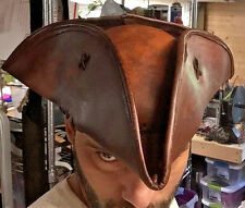 Genuine Leather tricorn pirate hat ARRRRRRRR!!! Available in black too matey!