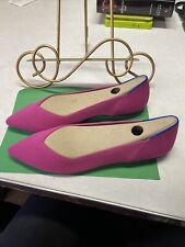 Rothy's The Point Fuchsia With Orange Stripe In The Back Size 9.5 No Box