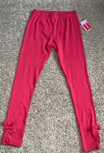 Gymboree Valentine Cutie Red Bow Ankle Leggings NWT size 12