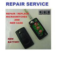 Peugeot 207 2 button Remote Flip Key Fault Repair  Refurbishment service New