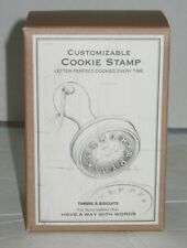 Nib Customizable Cookie Stamp Timbre & Biscuits Letter Perfect Every Time
