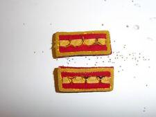 b6115p WW 2 Chinese National Collar Rank Insignia Pair Captain Army IR17E