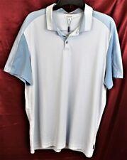 CALVIN KLEIN SS 100% Cotton Polo Shirt Blue Color Block Chest 46 Lth 28 XL New